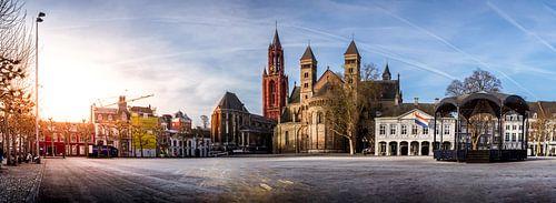 Panorama van het vrijthof in Maastricht