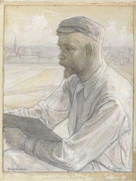 Johan Cohen, Portret van de kunstschilder Ferdinand Hart Nibbrig van Atelier Liesjes