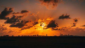 Coucher de soleil sur Chris Koekenberg