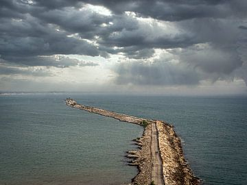De Kilometerslange pier van Kollam in India van Rik Pijnenburg