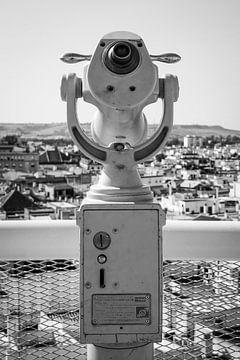 Fernglas mit Blick über Sevilla von Evelien Oerlemans