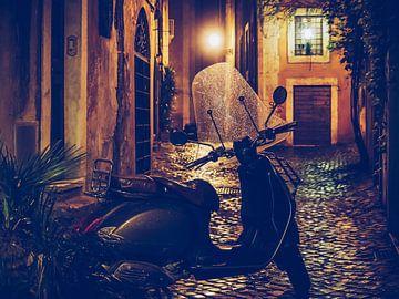 Rome bij nacht - Via dei Coronari van Alexander Voss