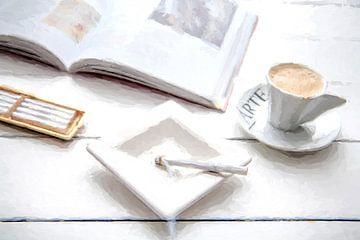 Sigaret, Espresso, Kunst van Kahl Design Manufaktur