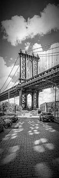 Pont de Manhattan à New York | Panorama vertical sur Melanie Viola