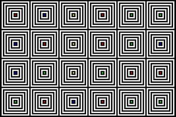 Nested | Center | 06x04 | N=06 | Random #02 | RGBY van Gerhard Haberern