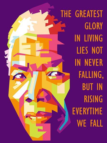 Pop Art Nelson Mandela van Jan Willem van Doesburg