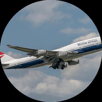 100 jaar British Airways! Take-off van de Boeing 747-400 van British Airways die ter gelegenheid van van Jaap van den Berg