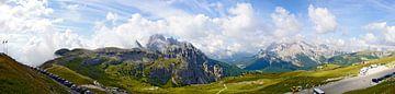 Panorama van Monte Cristallo en Cadini Groep van Leopold Brix
