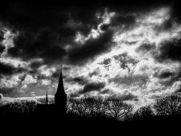 Kerk Beers (zwartwit) van Lex Schulte
