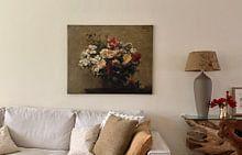 Klantfoto: Henri Fantin-Latour, Zomerbloemen, op canvas