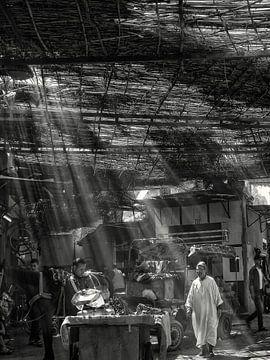 Marrakech - souks - marché dans la vieille ville sur Carina Buchspies