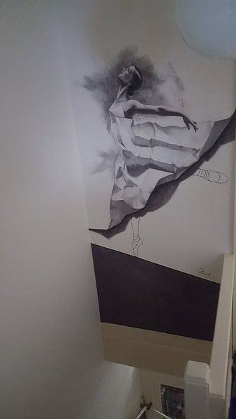 Klantfoto: Dancer van Henrik Moses, op behang