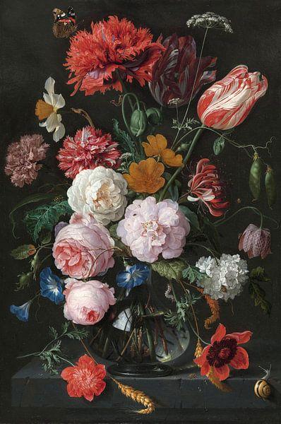 Blumenstrauß in einer Glasvase, Jan Davidsz. de Heem von Schilders Gilde