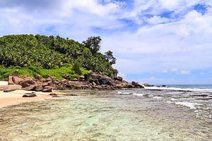 Droom stand op de Seychellen