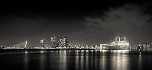 Rotterdam by night panorama sur Studio Wanderlove