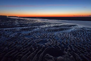 Zonsondergang aan het strand von Marcel Klootwijk