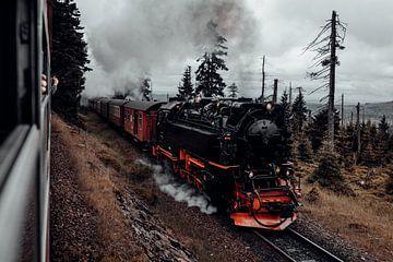 Harzer Schmalspurbahn auf dem Weg zum Brocken von Oliver Henze