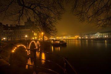 Amsterdam Kanäle bei Nacht von Jeroen Stel