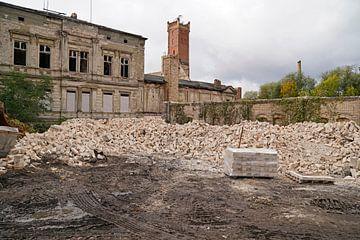 Sloop van het opslaggebouw van het complex Böllberger Mühle in Halle van Babetts Bildergalerie