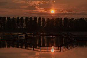Zonsondergang Park Lingezegen van Anke de Haan