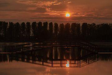 Sonnenuntergang Park Lingez Segen von Anke de Haan