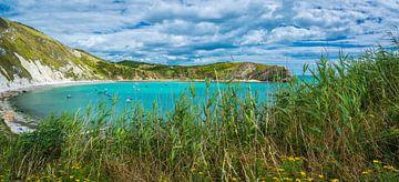 Turquoise baai aan de Jurassic coast, Engeland van Rietje Bulthuis