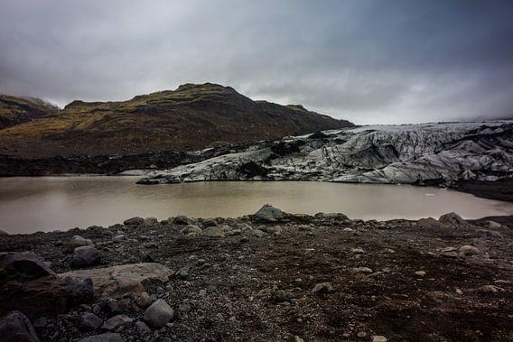 Gletsjer - Solheimajokull van Leanne lovink