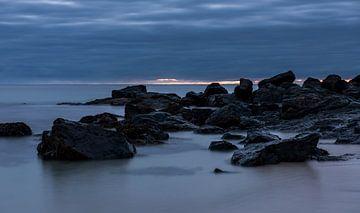 Nachtstimmung an der Küste von Cornwall von Daan Kloeg