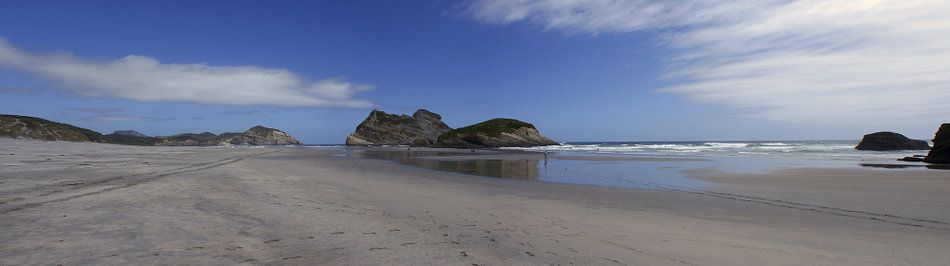 Wharariki beach - Nieuw Zeeland van Jeroen van Deel