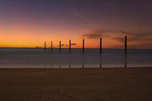 zonsondergang aan zee van Alexandra Van den Bossche