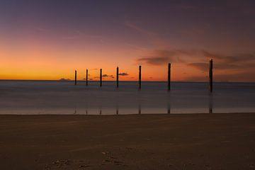 Sonnenuntergang am Meer von Alexandra Van den Bossche