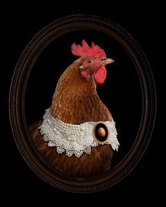 La poule ou l'œuf. Portrait d'une fière mère poule sur Elles Rijsdijk