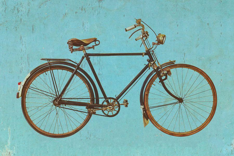 Das Vintage Fahrrad Poster - Martin Bergsma | OhMyPrints