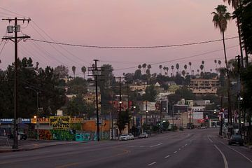 Sunset Boulevard - Los Angeles van Maurice van den Tillaard