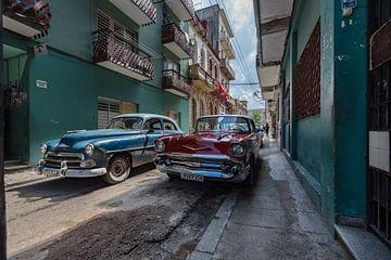 Cubaanse oldtimers in Havana sur Celina Dorrestein