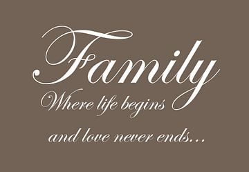 Family - Donker bruin van Sandra H6 Fotografie