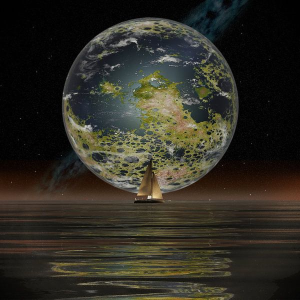 De Nieuwe Maan aan de horizon van Frans Blok