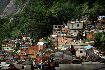 Favela Santa Marta van Fotografie door Menno