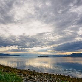 Evening Scenery on Tysfjord van Gisela Scheffbuch