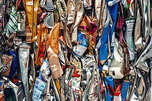 Blik op het recyclen van blik