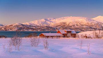 Boerderij in Winter, Noorwegen van Adelheid Smitt