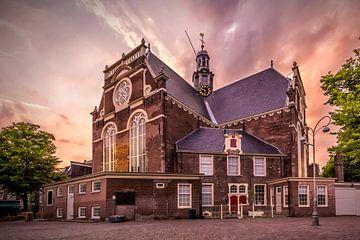 AMSTERDAM Noorderkerk beim Sonnenuntergang von Melanie Viola