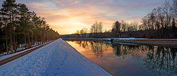Isarkanal Aumühle bei Sonnenuntergang, Oberbayern von Susanne Bauernfeind