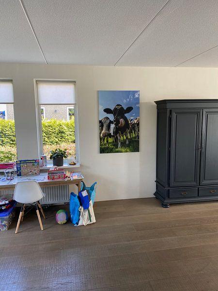Kundenfoto: Gruppe von Kühen in die Linse von Sjoerd van der Wal Fotografie, auf leinwand