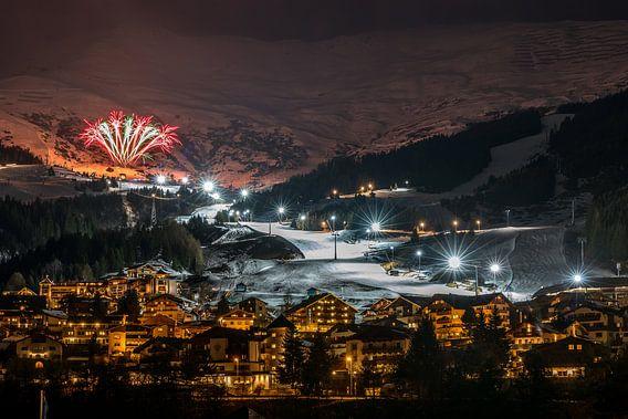 Nacht skiën van Hans Jansen - Lynxs Photography