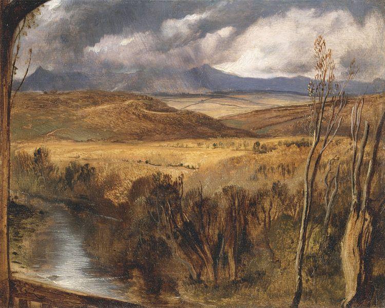 A Highland Landscape, Edwin Landseer von Meesterlijcke Meesters