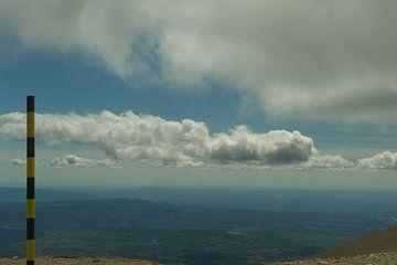 Mont Ventoux uitzicht met paal van Cor Pater