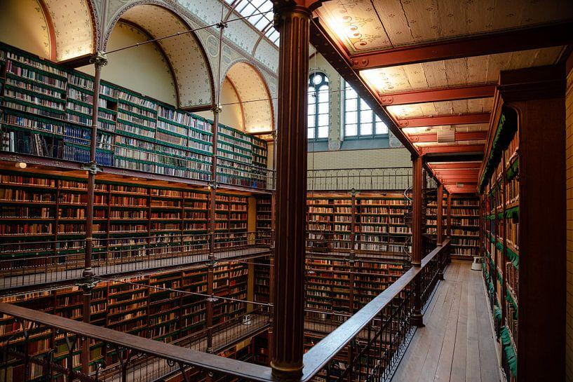 Bibliotheek in het Rijksmuseum, Amsterdam van Jeroen Somers