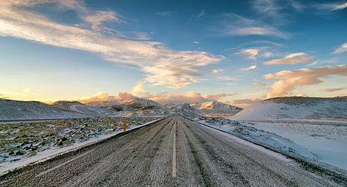 IJsweg op IJsland van