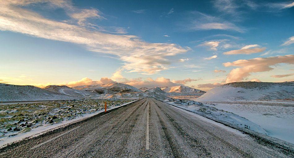 IJsweg op IJsland van Frank Tauran